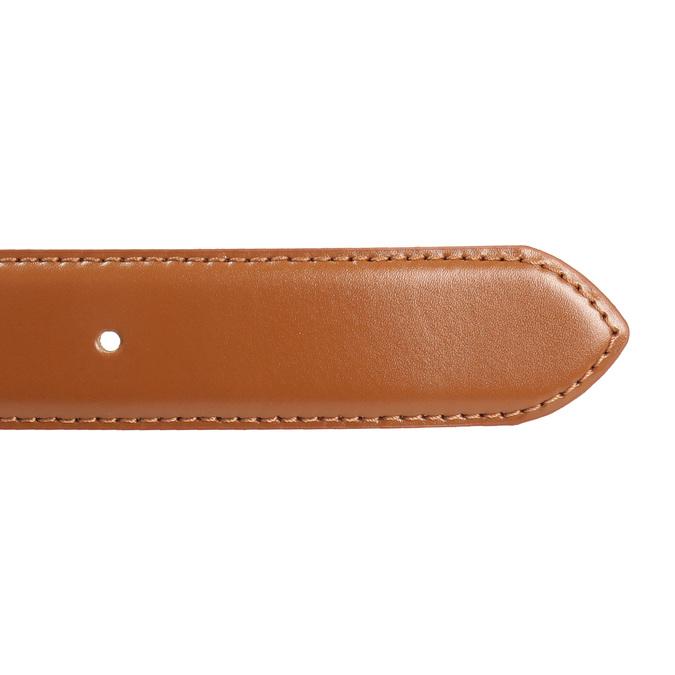 Hnedý pánsky kožený opasok bata, hnedá, 954-3153 - 16