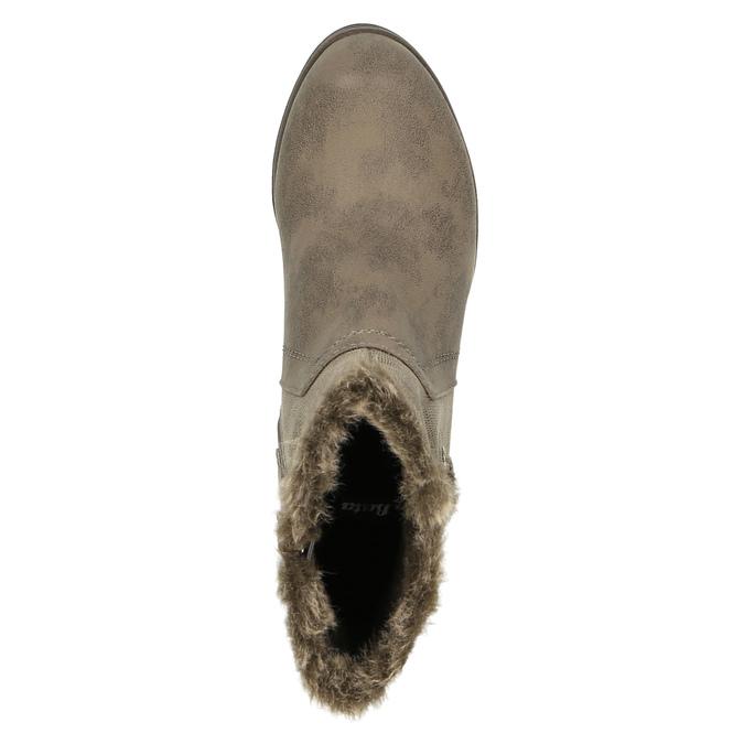 Dámske členkové čižmy bata, šedá, 699-2632 - 19