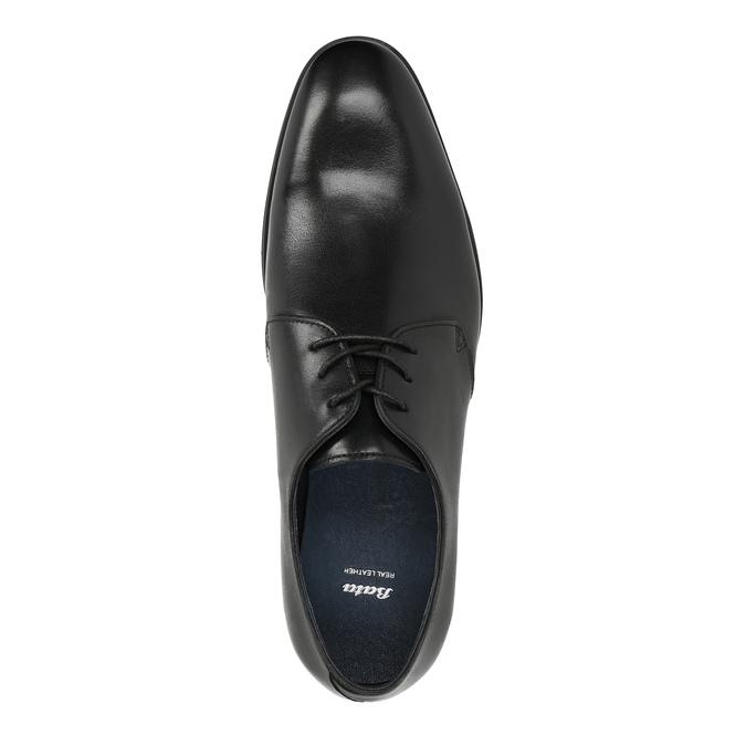 Čierne kožené poltopánky bata, čierna, 824-6754 - 19