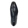 Tmavomodré kožené Oxford poltopánky bata, modrá, 826-9808 - 19