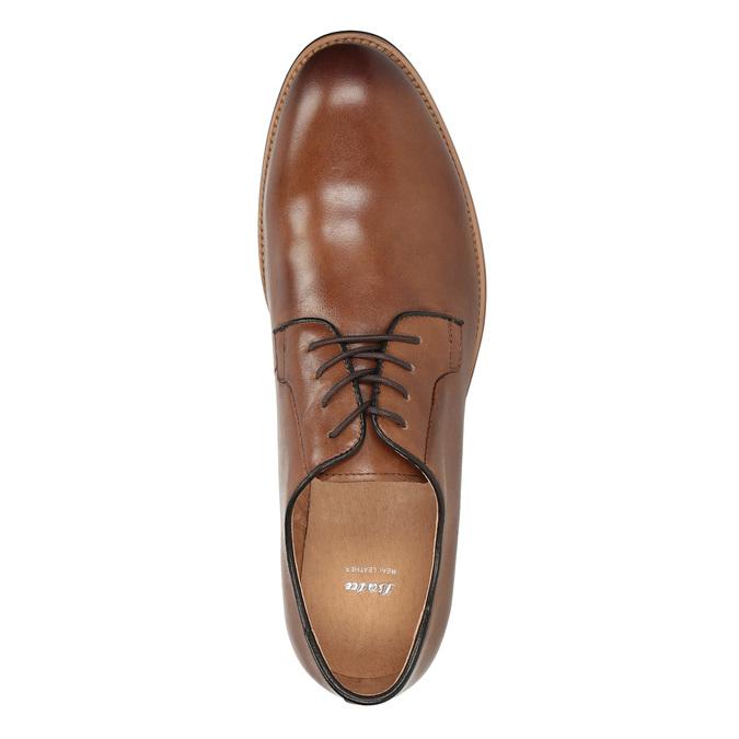 Pánske kožené poltopánky na silnějšej podrážke bata, hnedá, 826-3809 - 17
