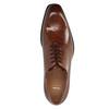 Kožené Oxford poltopánky s Brogue zdobením bata, hnedá, 826-3811 - 19