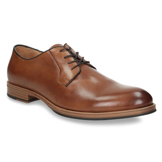 Pánske kožené poltopánky na silnějšej podrážke bata, hnedá, 826-3809 - 13