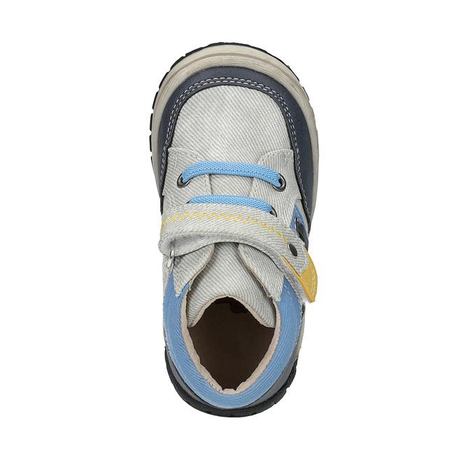 Detská členková obuv so suchým zipsom bubblegummers, šedá, 111-2616 - 19