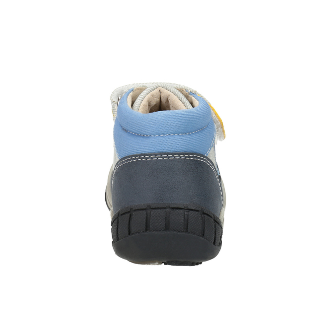 Detská členková obuv so suchým zipsom bubblegummers, šedá, 111-2616 - 17