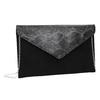 Listová kabelka so striebornou retiazkou bata, čierna, 969-6644 - 13