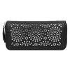 Dámska perforovaná peňaženka bata, čierna, 941-6154 - 26