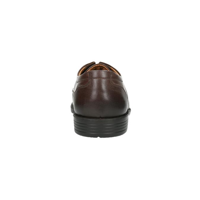 Pánske kožené poltopánky s prešitím cez špičku bata, hnedá, 824-4815 - 17