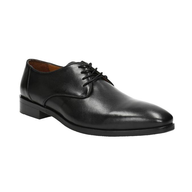 Čierne kožené poltopánky bata, čierna, 824-6796 - 13