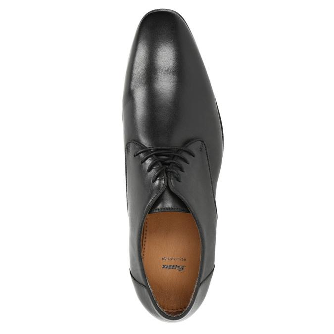 Čierne kožené poltopánky bata, čierna, 824-6796 - 19