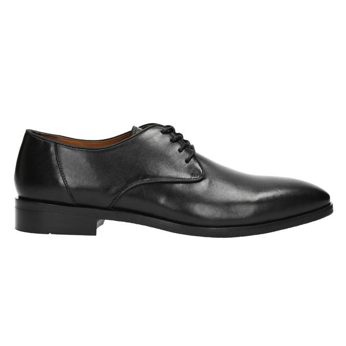 Čierne kožené poltopánky bata, čierna, 824-6796 - 15