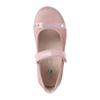 Detské kožené baleríny s kamienkami mini-b, ružová, 224-5600 - 19