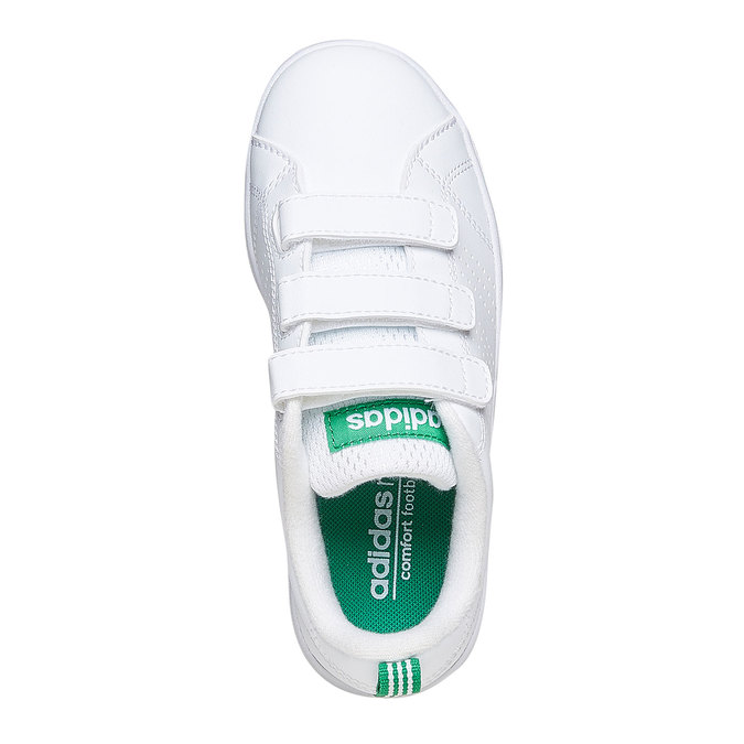 Detské biele tenisky na suchý zips adidas, biela, 301-1168 - 19