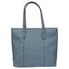 Modrá kabelka s perforovaným detailom bata, modrá, 961-9711 - 19