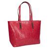 Červená kabelka v Shopper štýle bata, červená, 961-5699 - 13
