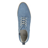 Kožená obuv nad členky bata, modrá, 593-9602 - 19
