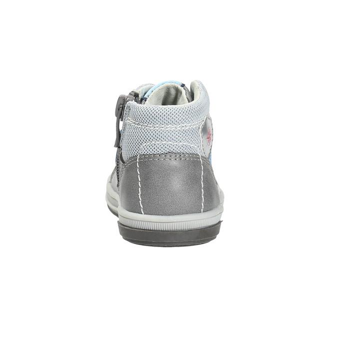 Detská kožená členková obuv bubblegummers, šedá, 114-2600 - 17