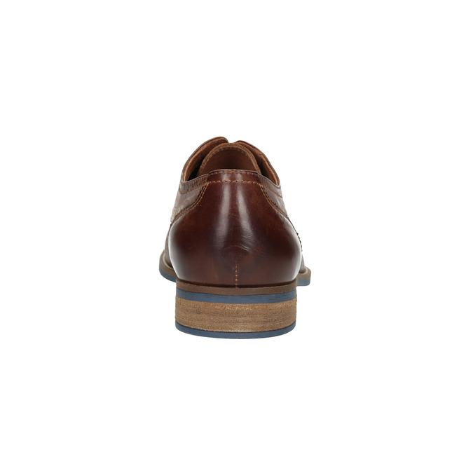 Kožené pánske poltopánky hnedé bata, hnedá, 826-4791 - 17