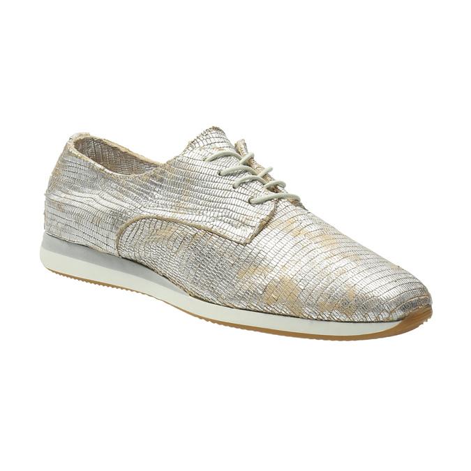 Zlaté kožené tenisky bata, strieborná, 526-8633 - 13
