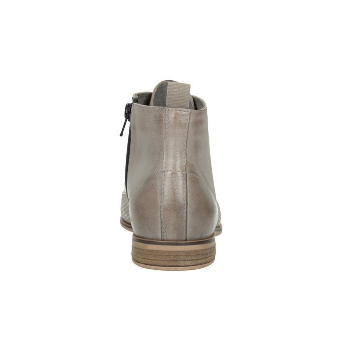 Kožená členková obuv bata, hnedá, 596-2645 - 17