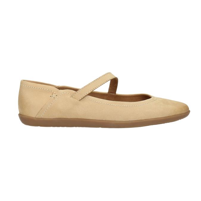 Dámske kožené baleríny bata, béžová, 526-8620 - 15
