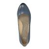 Lodičky na stabilnom podpätku pillow-padding, modrá, 626-9637 - 19