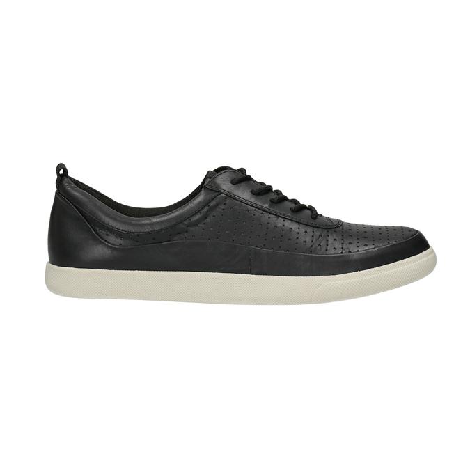 Kožené dámske tenisky bata, čierna, 526-6618 - 15