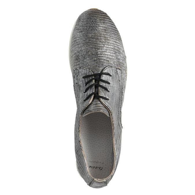 Strieborné kožené tenisky bata, strieborná, 526-6633 - 19