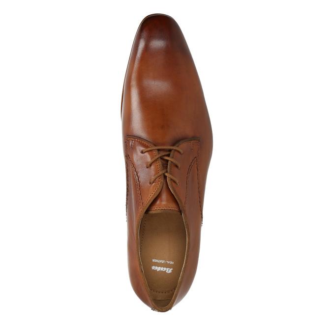 Pánske kožené poltopánky bata, hnedá, 826-3836 - 19