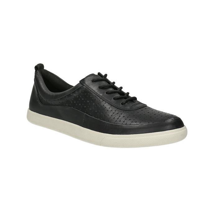 Kožené dámske tenisky bata, čierna, 526-6618 - 13