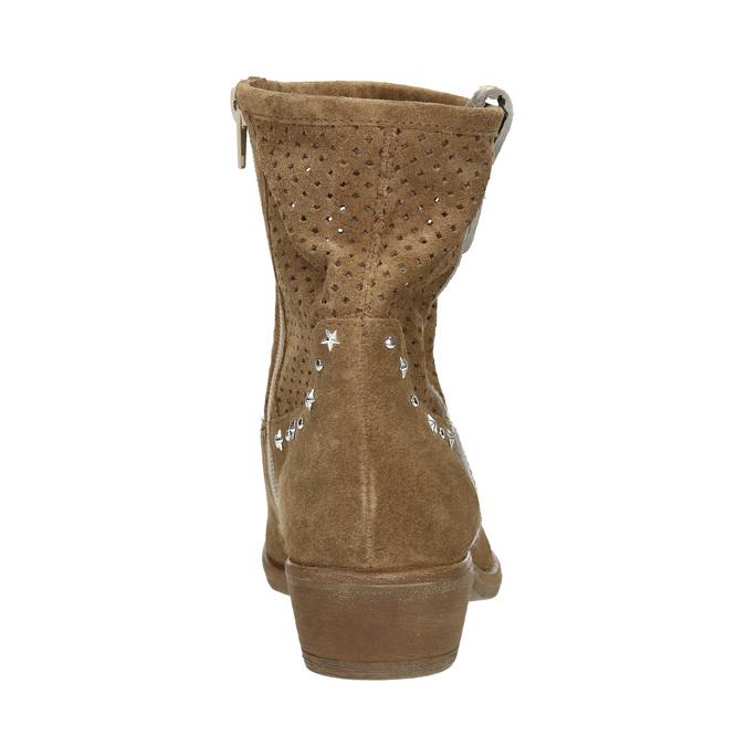 Kožené členkové čižmy bata, hnedá, 596-4653 - 17
