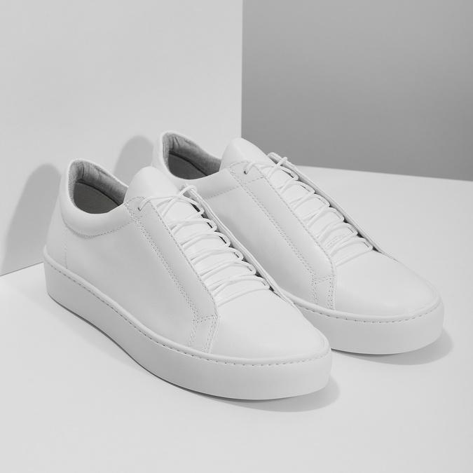 Biele kožené tenisky dámske vagabond, biela, 624-1019 - 26