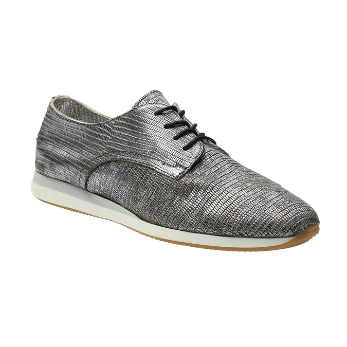 Strieborné kožené tenisky bata, strieborná, 526-6633 - 13