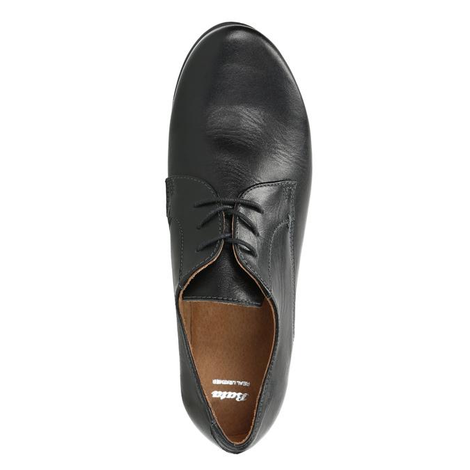 Dámske kožené poltopánky bata, čierna, 526-6635 - 15