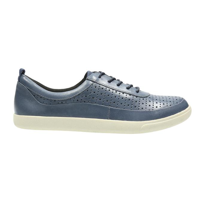 Dámske kožené tenisky modré bata, modrá, 526-9618 - 15