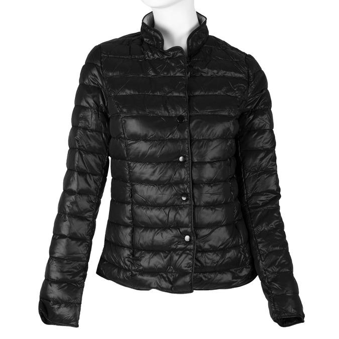 Prešívaná bunda s golierom bata, čierna, 979-6206 - 13