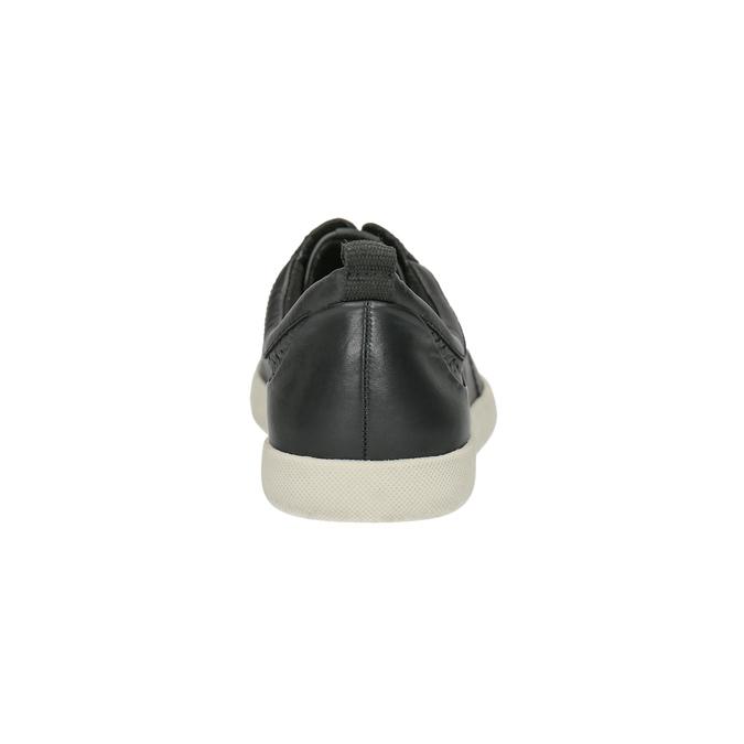 Kožené dámske tenisky bata, čierna, 526-6618 - 17