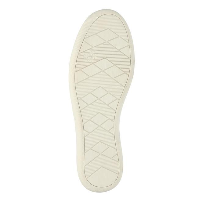Dámska kožená obuv s perforáciou bata-light, modrá, 516-9601 - 26