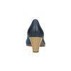 Dámske kožené lodičky bata, modrá, 626-9639 - 17
