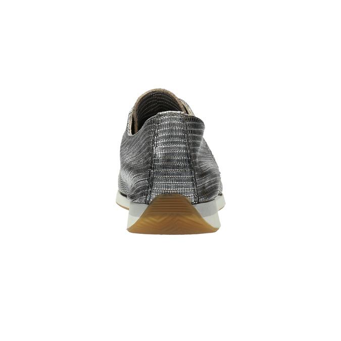Strieborné kožené tenisky bata, strieborná, 526-6633 - 17