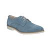 Modré kožené poltopánky bata, modrá, 523-9600 - 13