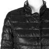 Prešívaná bunda s golierom bata, čierna, 979-6206 - 16