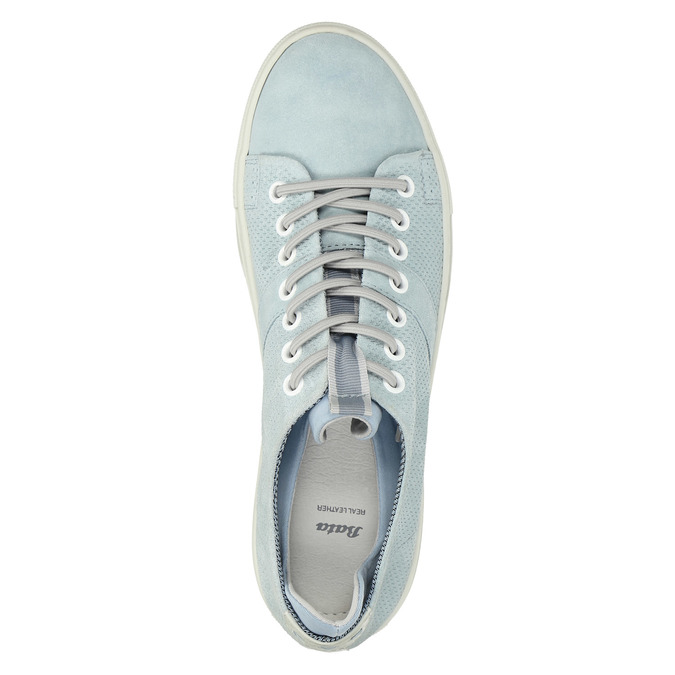 Kožené dámske tenisky bata, modrá, 523-9601 - 19
