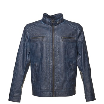 Koženková pánska bunda bata, modrá, 971-9194 - 13