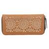Hnedá peňaženka s perforáciou bata, hnedá, 941-3154 - 19