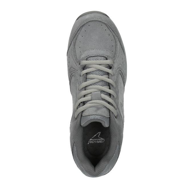 Dámske kožené tenisky power, šedá, 503-2117 - 19