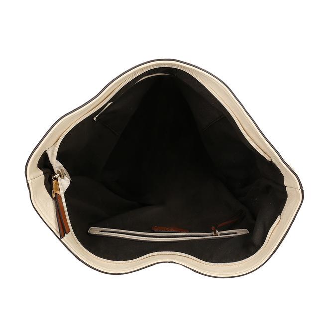 Kabelka v Hobo štýle bata, béžová, 961-8705 - 15