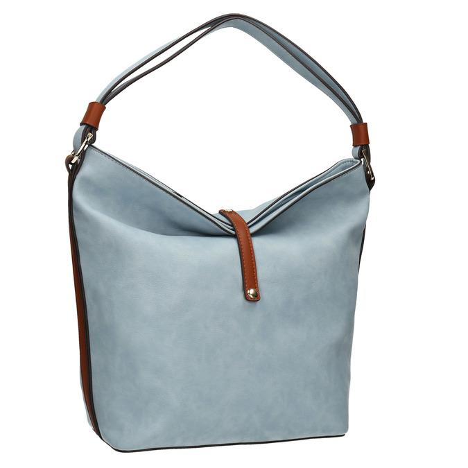 Modrá kabelka v Hobo štýle bata, modrá, 961-9705 - 13