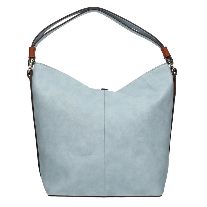 Modrá kabelka v Hobo štýle bata, modrá, 961-9705 - 19