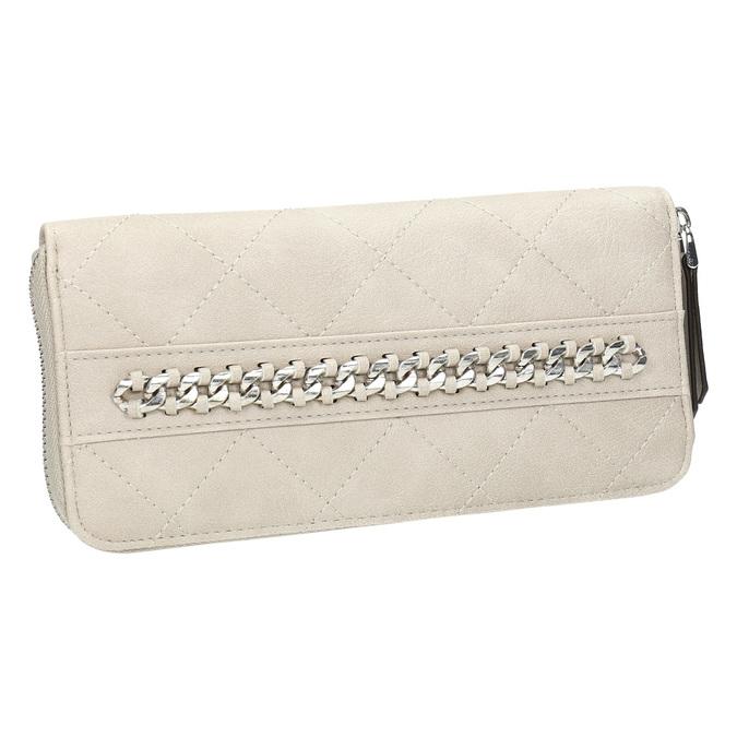 Dámska prešívaná peňaženka bata, béžová, 941-8146 - 13